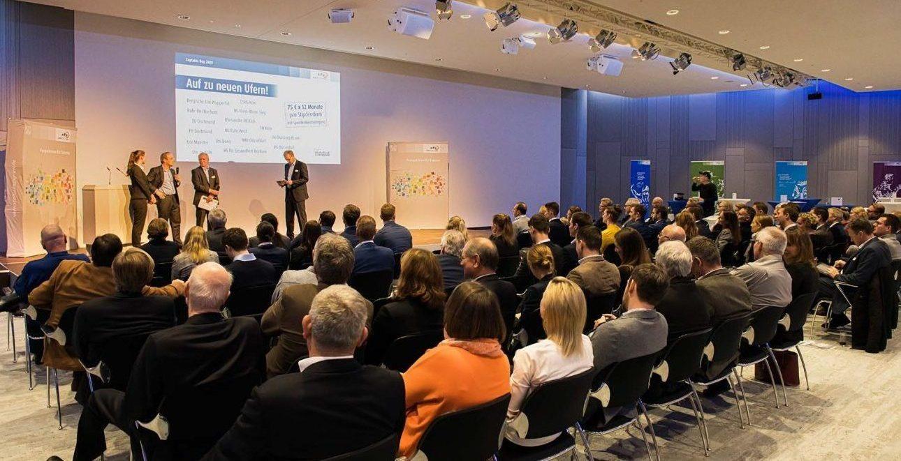 Captains Day 2020 der Sportstiftung NRW im Rahmen der Messe boot in Düsseldorf. Netzwerktreffen von Wirtschaft und Leistungssportlern