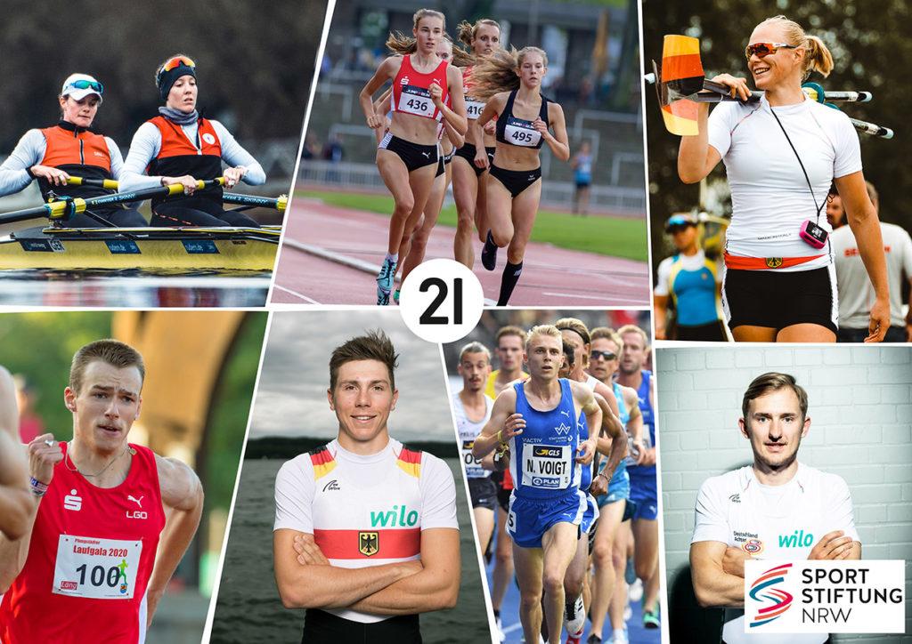 Die sieben Sportstipendiat*innen von DSW21